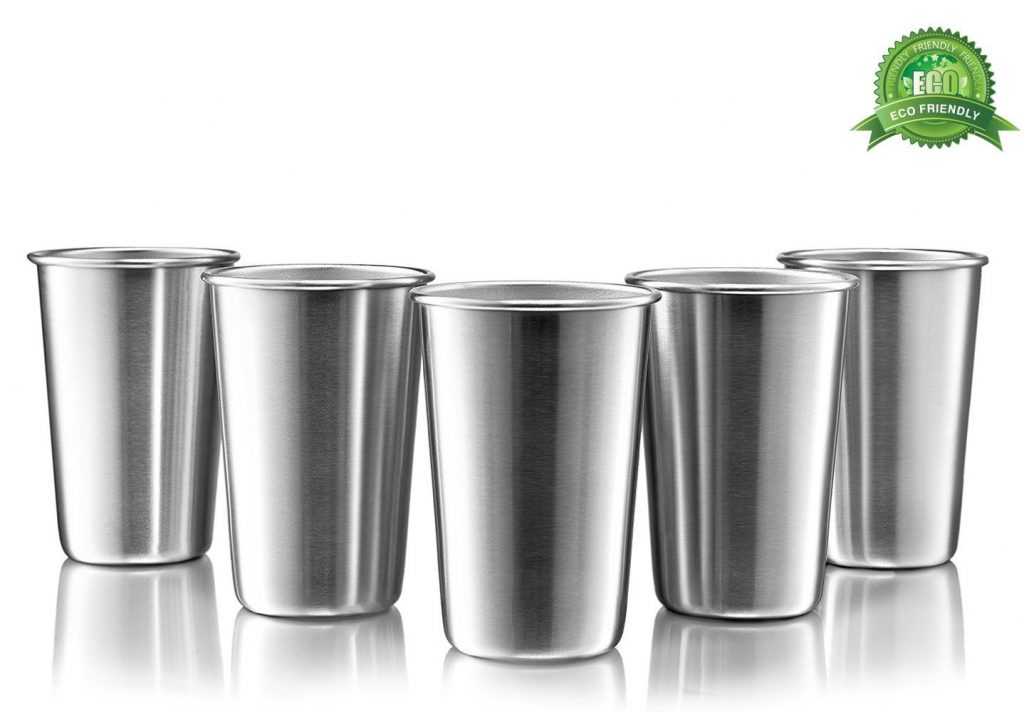 3. Premium Stainless Steel Cups by Modern Innovations
