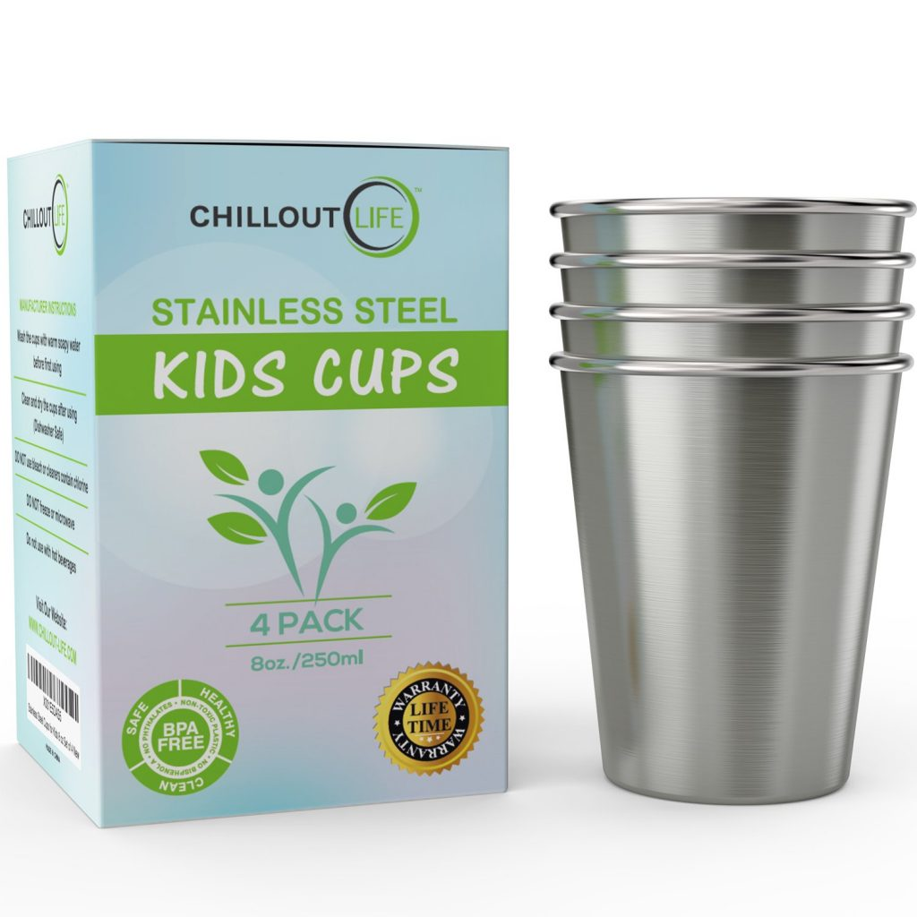 2. Stainless Steel Cups by CHILLOUT LIFE