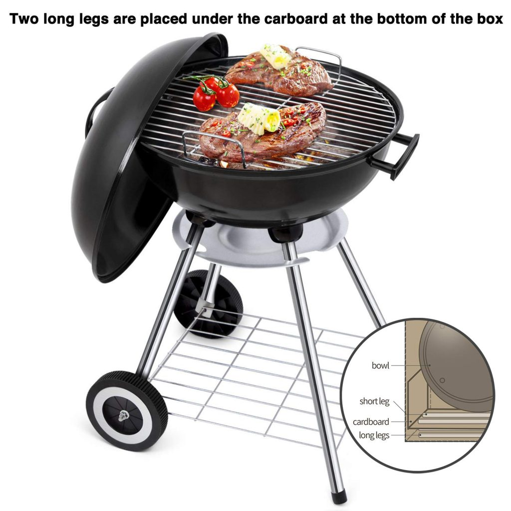6. Portable Charcoal Grill by BEAU JARDIN
