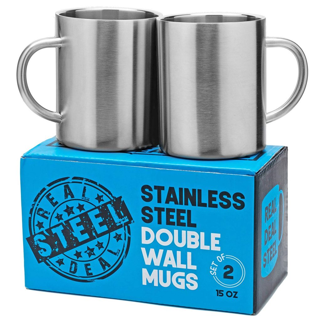 4. Stainless Steel Mugs by Real Deal Steel