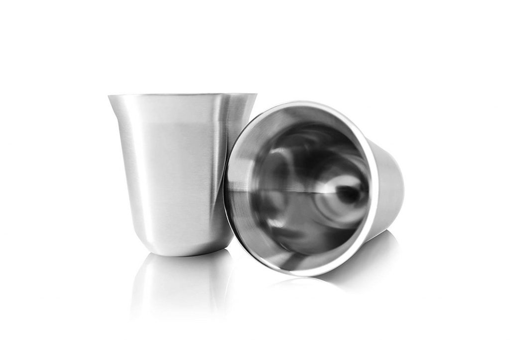 6. Stainless Steel Espresso Cups by tombert