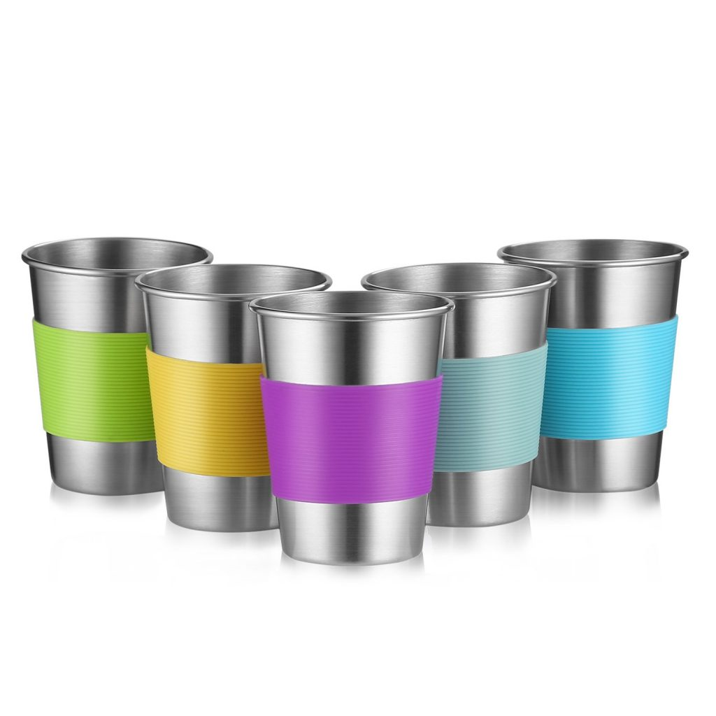 7. Stainless Steel Cups by Qrooper