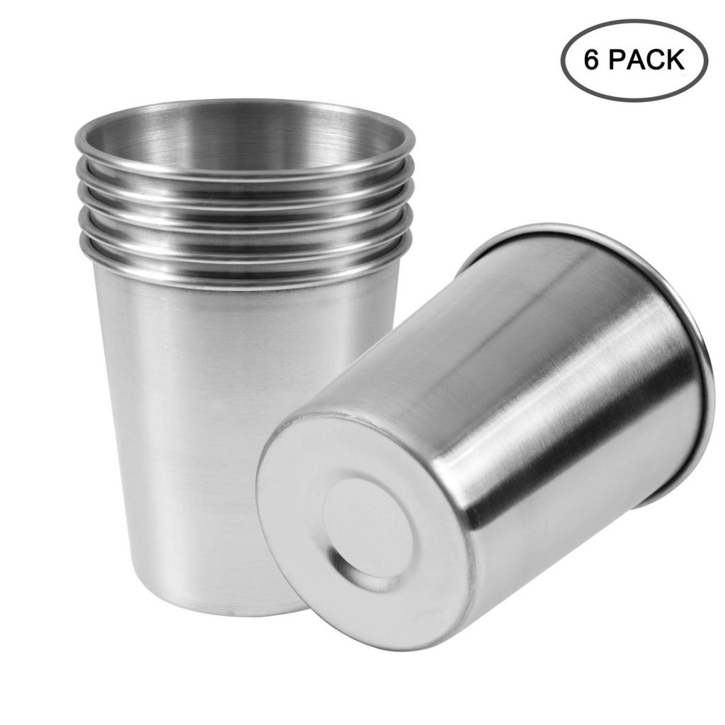10. EVERMARKET 230ml Stainless Steel Cups