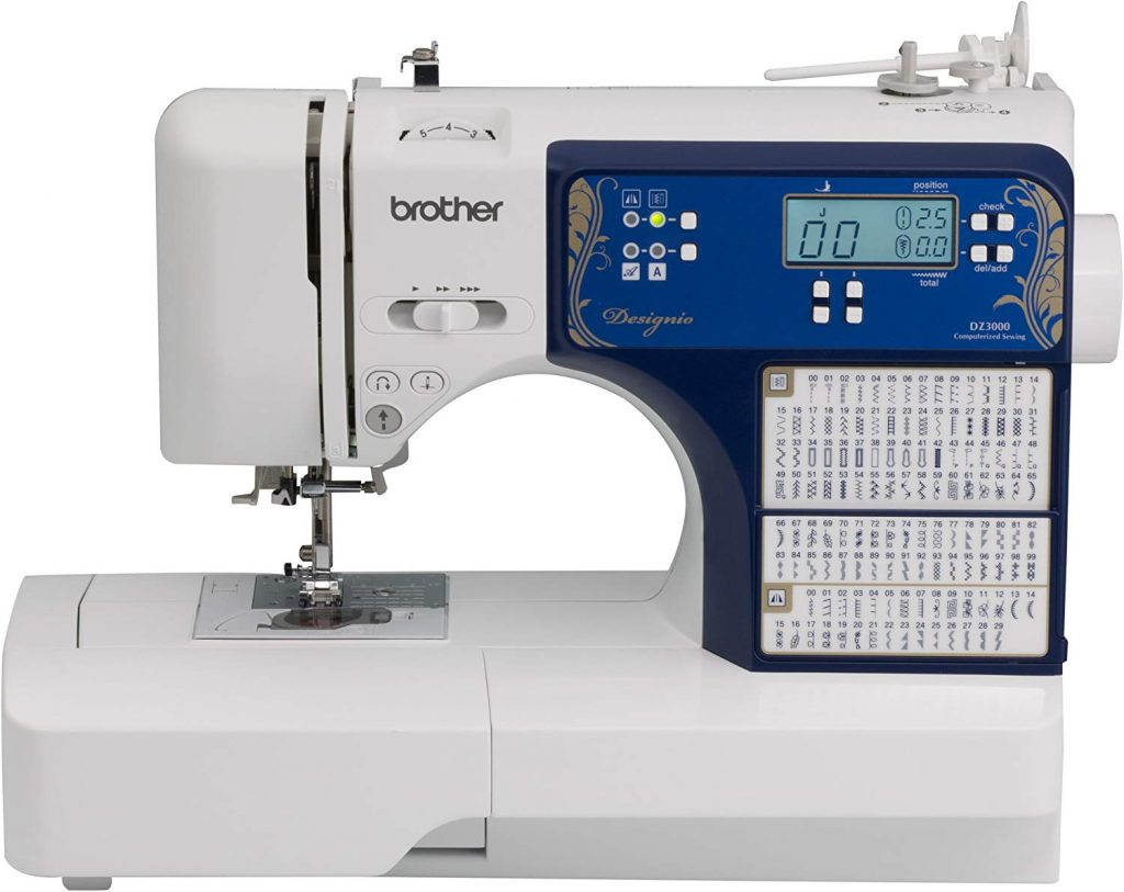 8. Brother Computerized Sewing & Quilting Machine