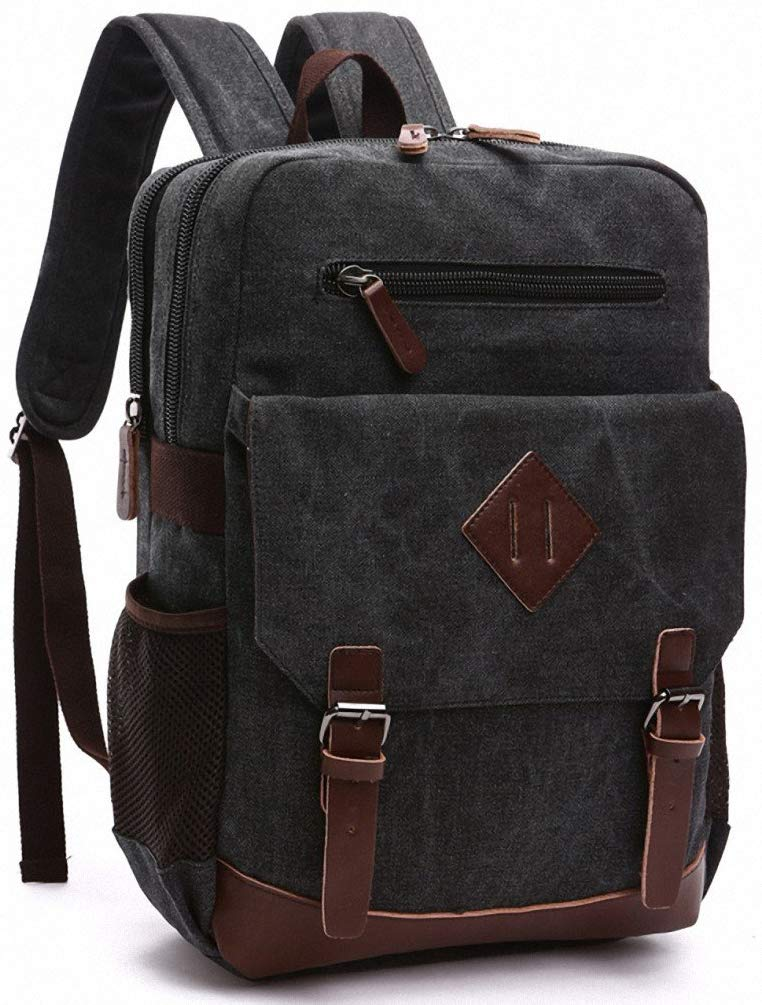 8. Large Vintage Canvas Backpack for Men by Kenox