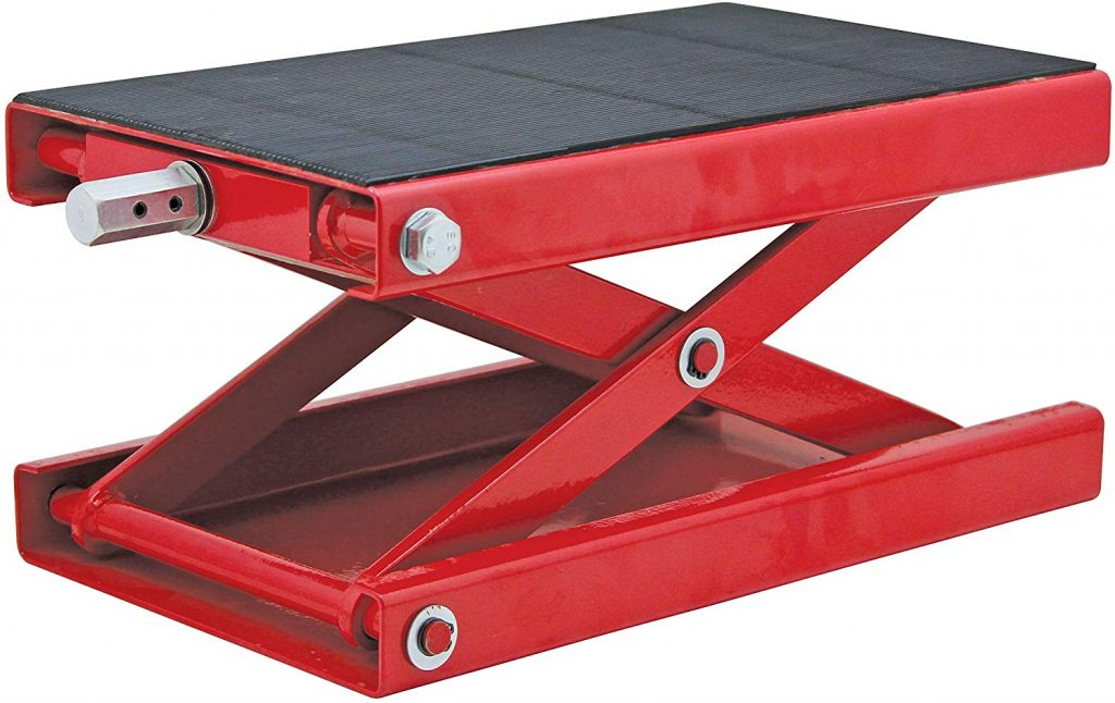 1. Extreme Max Motorcycle Scissor Jack Stand