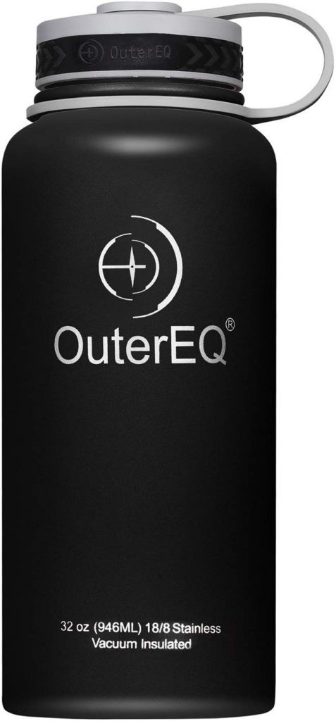 1. OuterEQ vacuum insulated stainless steel drinking water bottle: