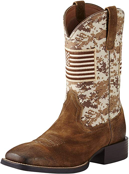 6. ARIAT Men's Sport Patriot Western Boot