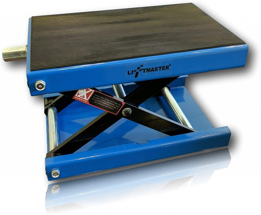 6. LiftMaster Motorcycle Center Scissor Lift Jack Hoist Stand