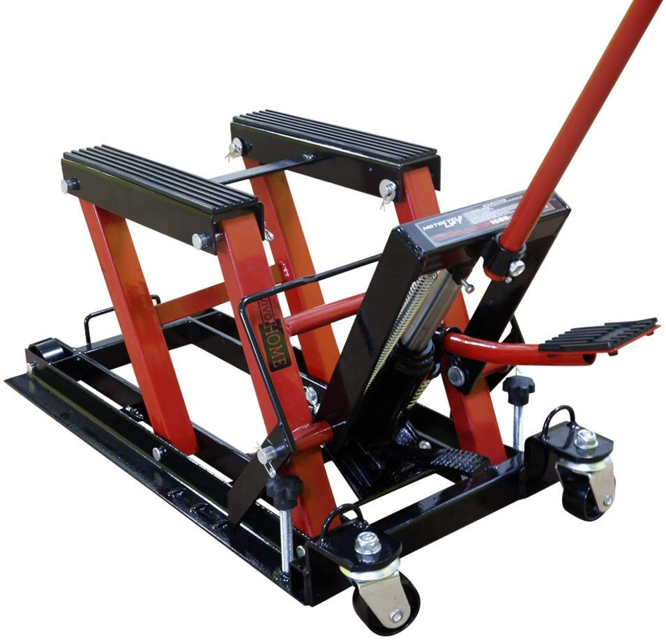 8. VIVOHOME Hydraulic Motorcycle Lift Jack Hoist Stand