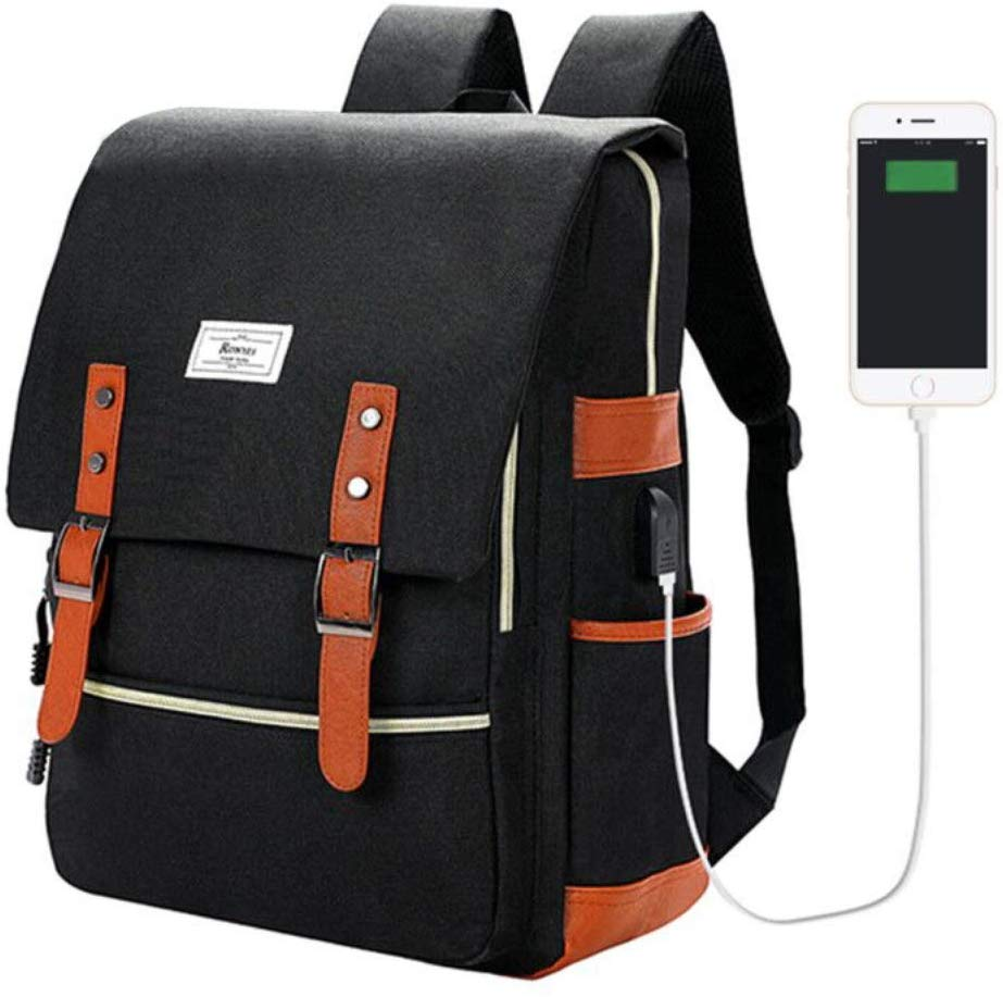 7. Vintage Laptop Backpack by Ronyes