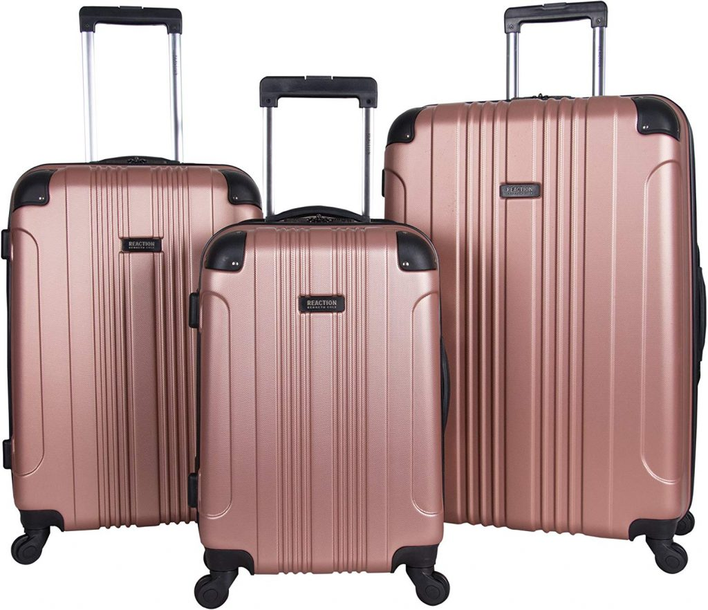 2. Kenneth Cole 3-Piece Lightweight Hardside Luggage Set
