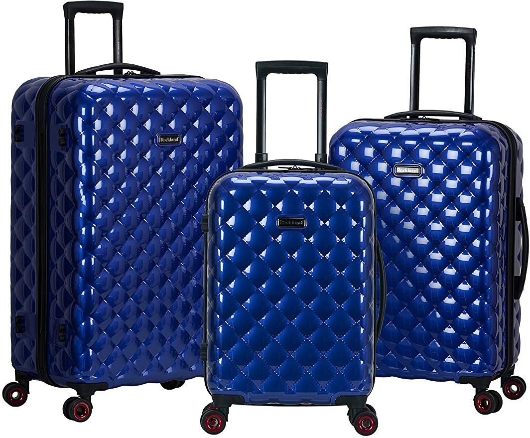 5. Rockland Quilt 3 Piece Luggage Set