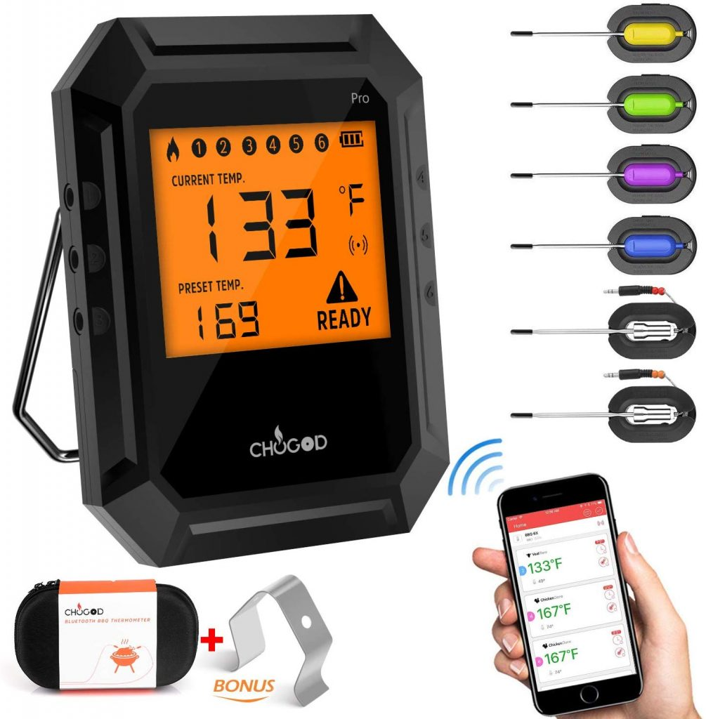 6. Nobebird Bluetooth Meat Thermometer
