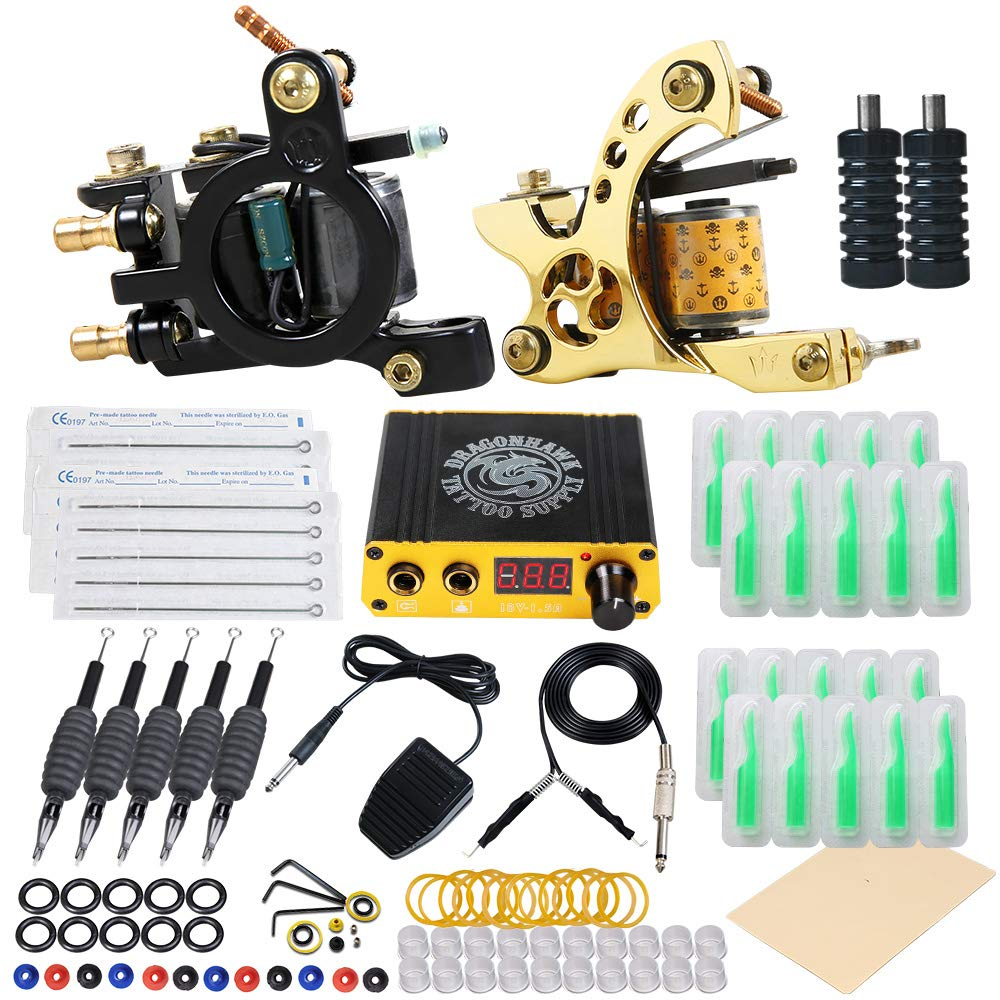 10. Dragonhawk Starter Complete Tattoo Kit