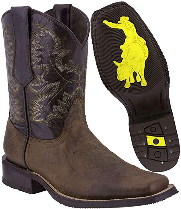 10. Texas Legacy - Men's Leather Cowboy Boots