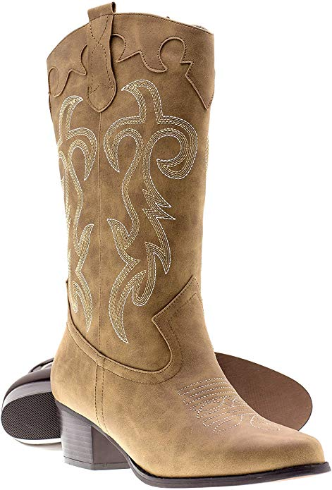 8. Canyon Trails Women's Classic Cowboy Boots