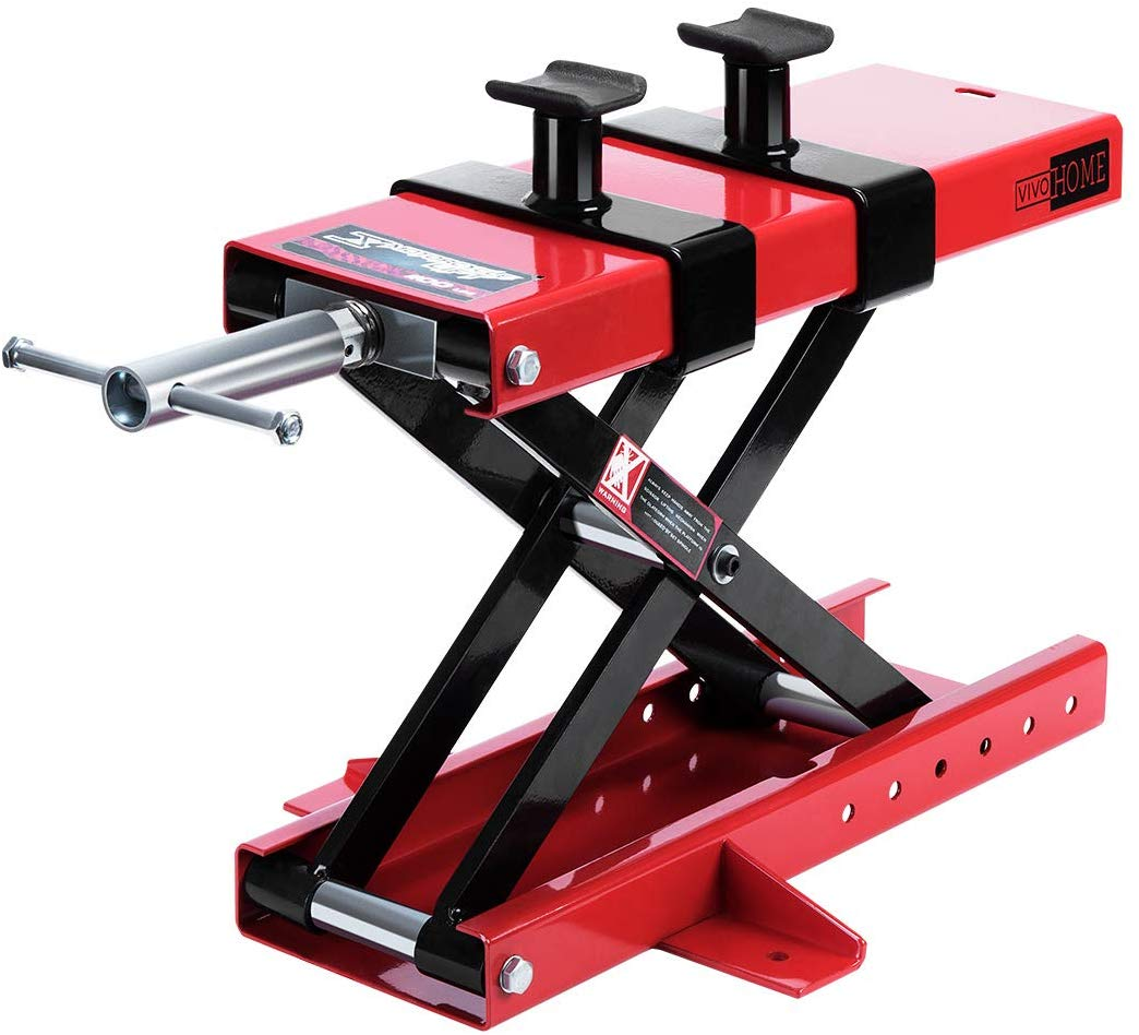 9. VIVOHOME Motorcycle Scissor Lift Jack Stand