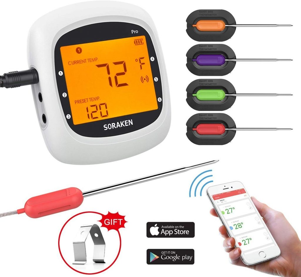 2. Wireless Meat Thermometer by Soraken