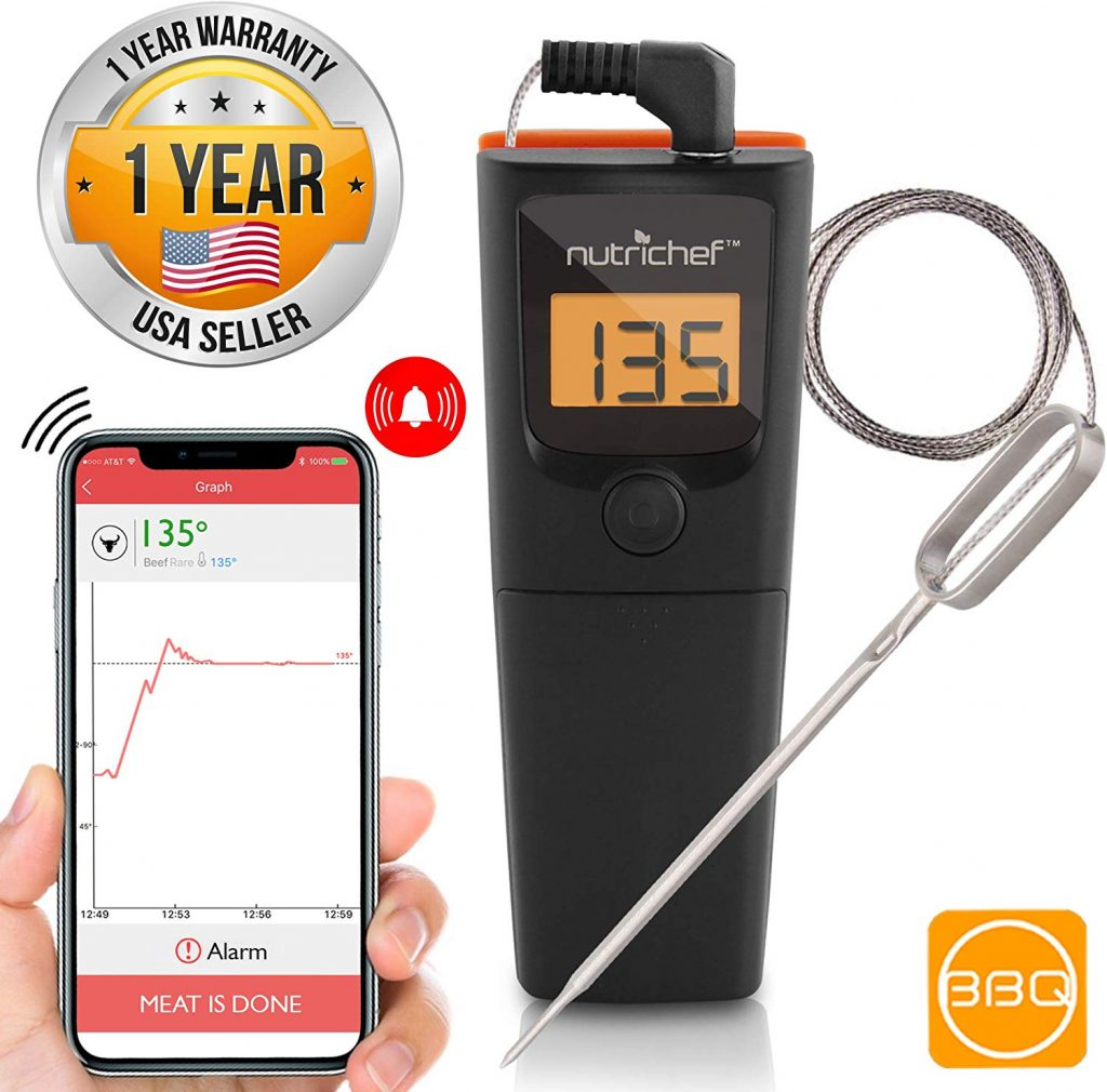 9. NutriChef Bluetooth Meat Thermometer
