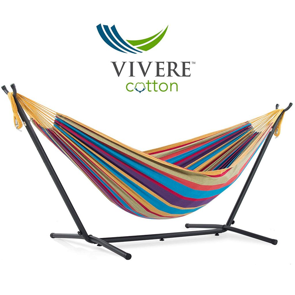 2. Vivere Double Cotton Hammock