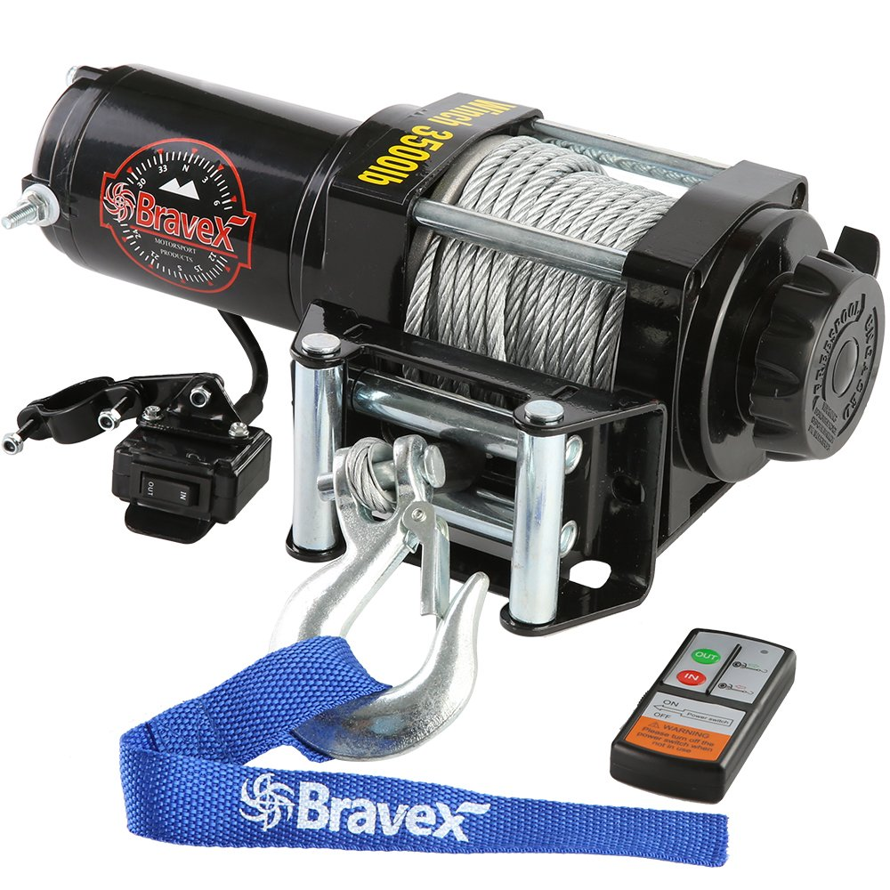 3. Bravex Electric Waterproof Winch