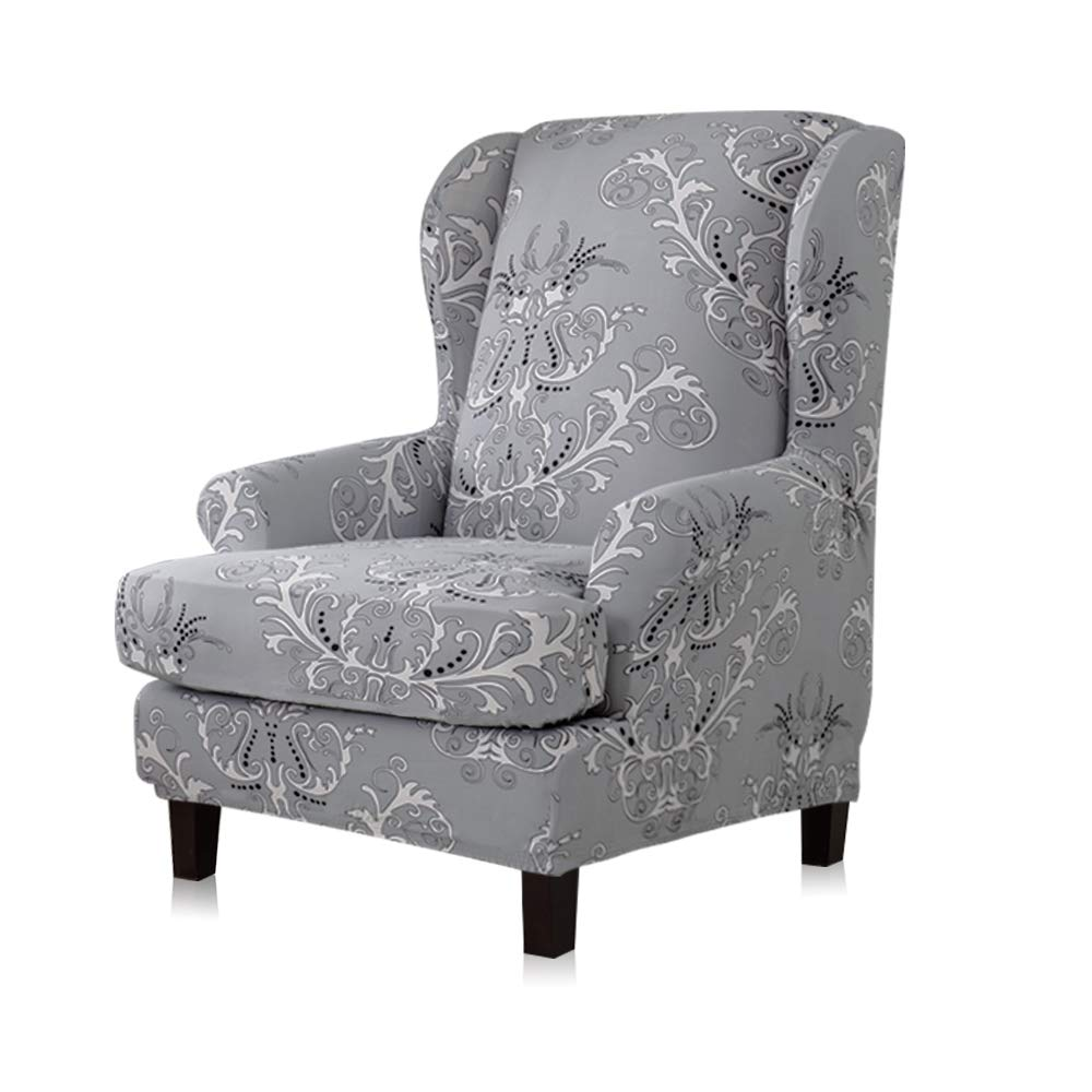 5. TIKAMI Wing Chair Slipcovers