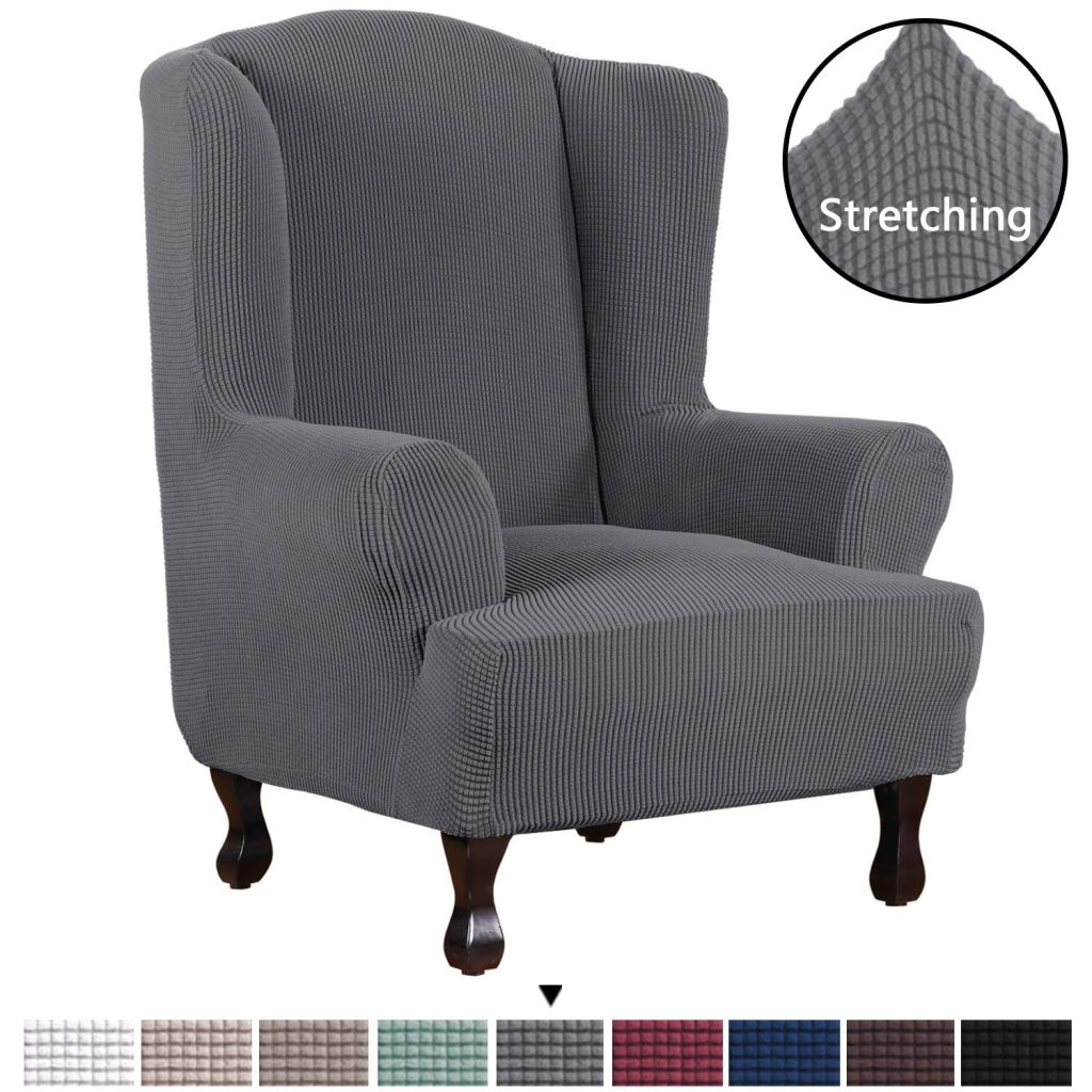 4. H.VERSAILTEX Wingback Chair Cover Slipcover