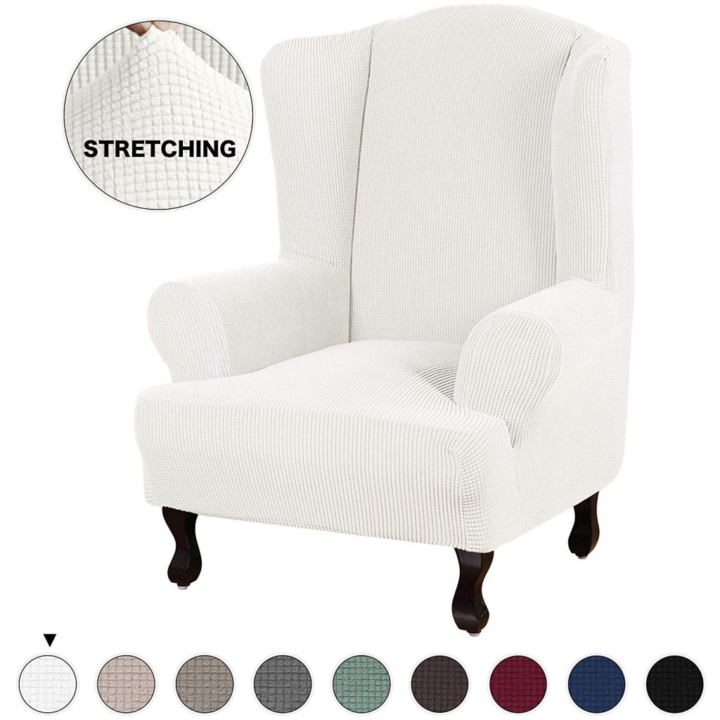 1. Turquoize Stretch Wing Chair Slipcover