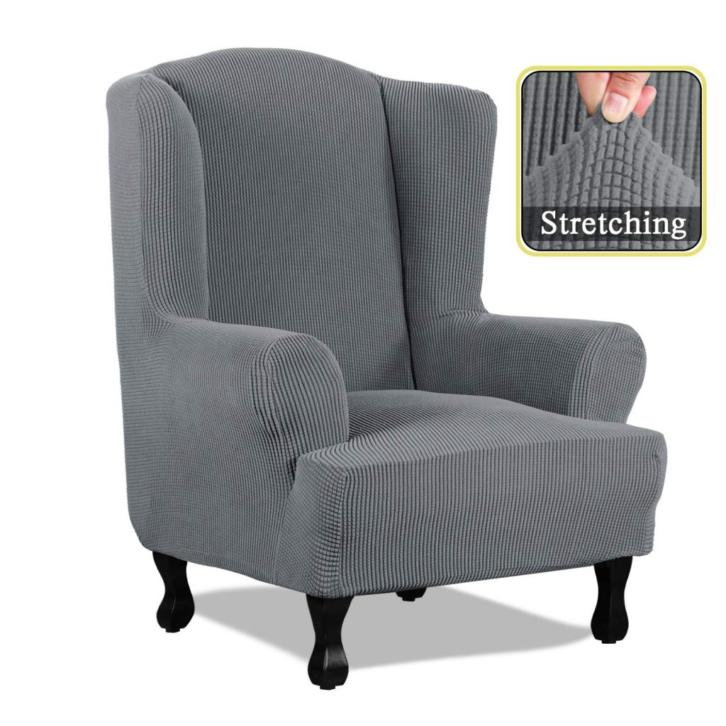 7. SimpleHome Wing Chair Slipcovers