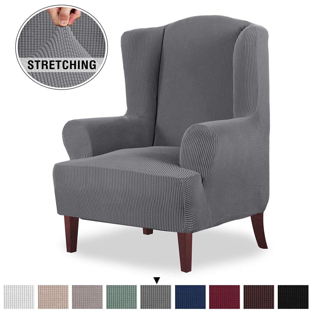6. Jacquard Spandex Armchair Chair Slipcovers by PrinceDeco