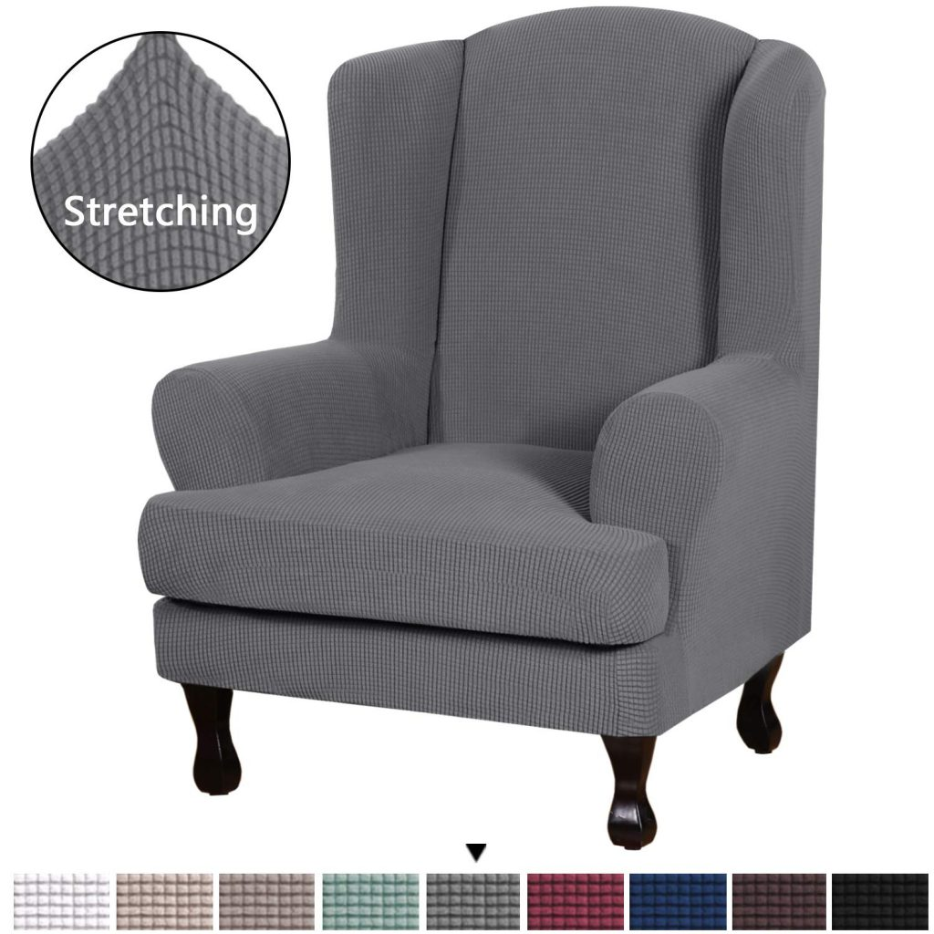 8. H.VERSAILTEX 2-Piece Wingback Chair Cover
