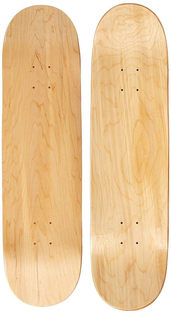 10. Natural Blank Skateboard Deck by Moose