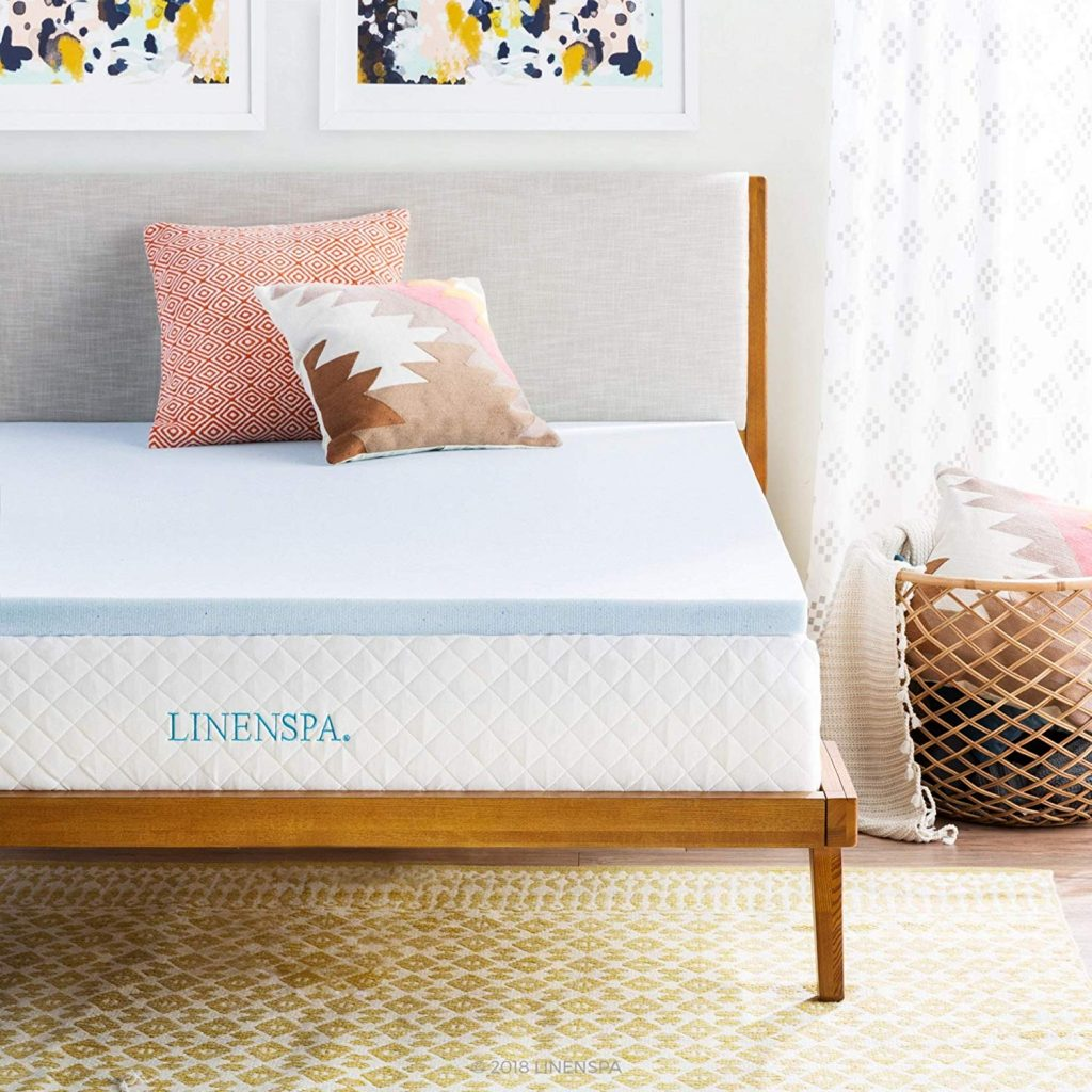 1. Linenspa Gel Infused Memory Foam Mattress Topper