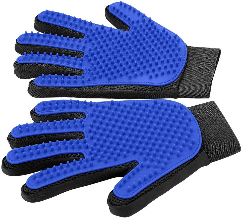 9. DELOMO Pet Grooming Glove (Upgraded Version)