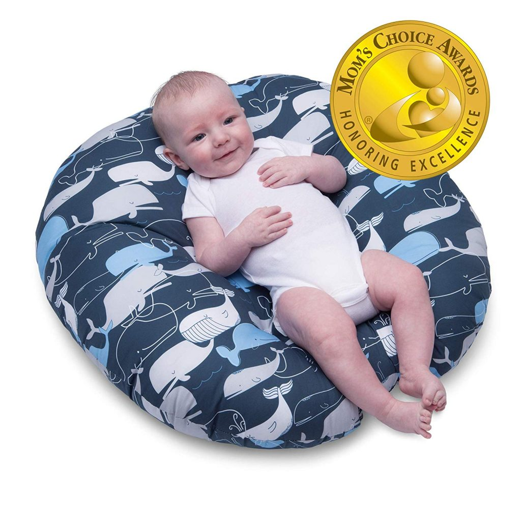 4. Boppy Big Whale Navy Newborn Lounger
