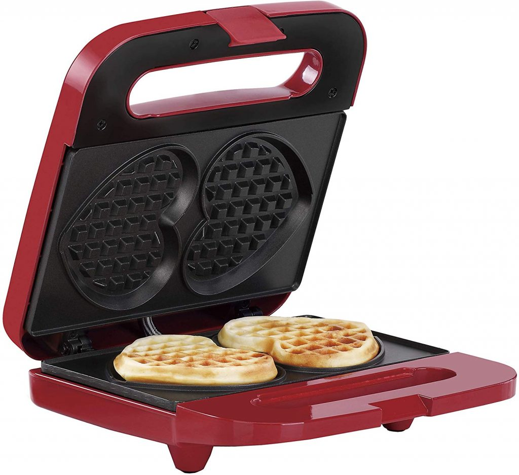 1. Non-Stick Heart Waffle Maker by Holstein Housewares