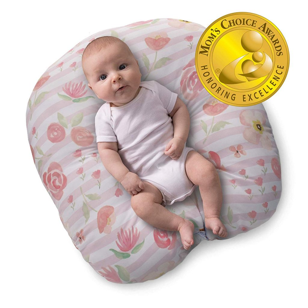 3. Boppy Big Blooms Newborn Lounger