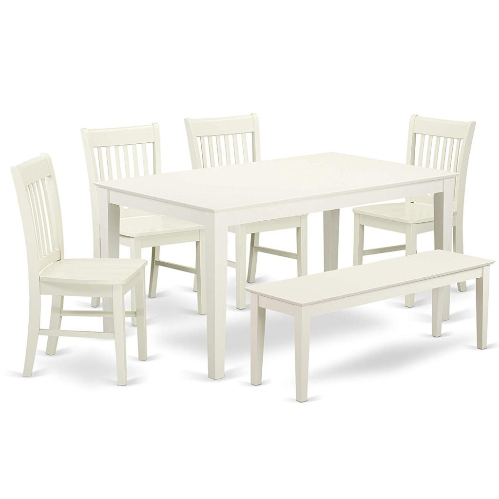 3. East West Furniture 6-Piece Dining room table