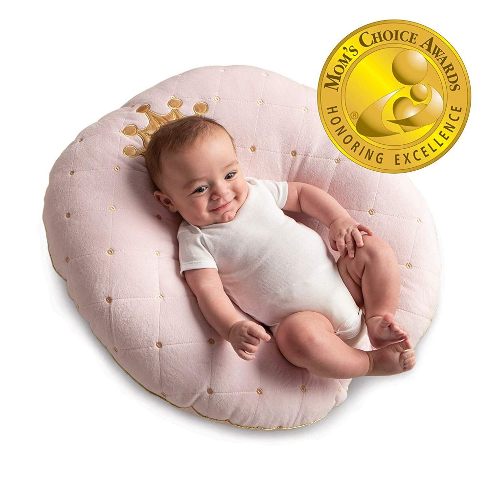 7. Boppy Pink Princess Newborn Lounger