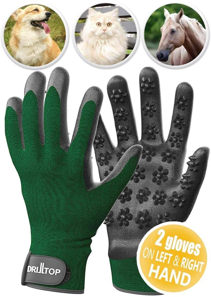 1. Drilltop Deshedding gloves