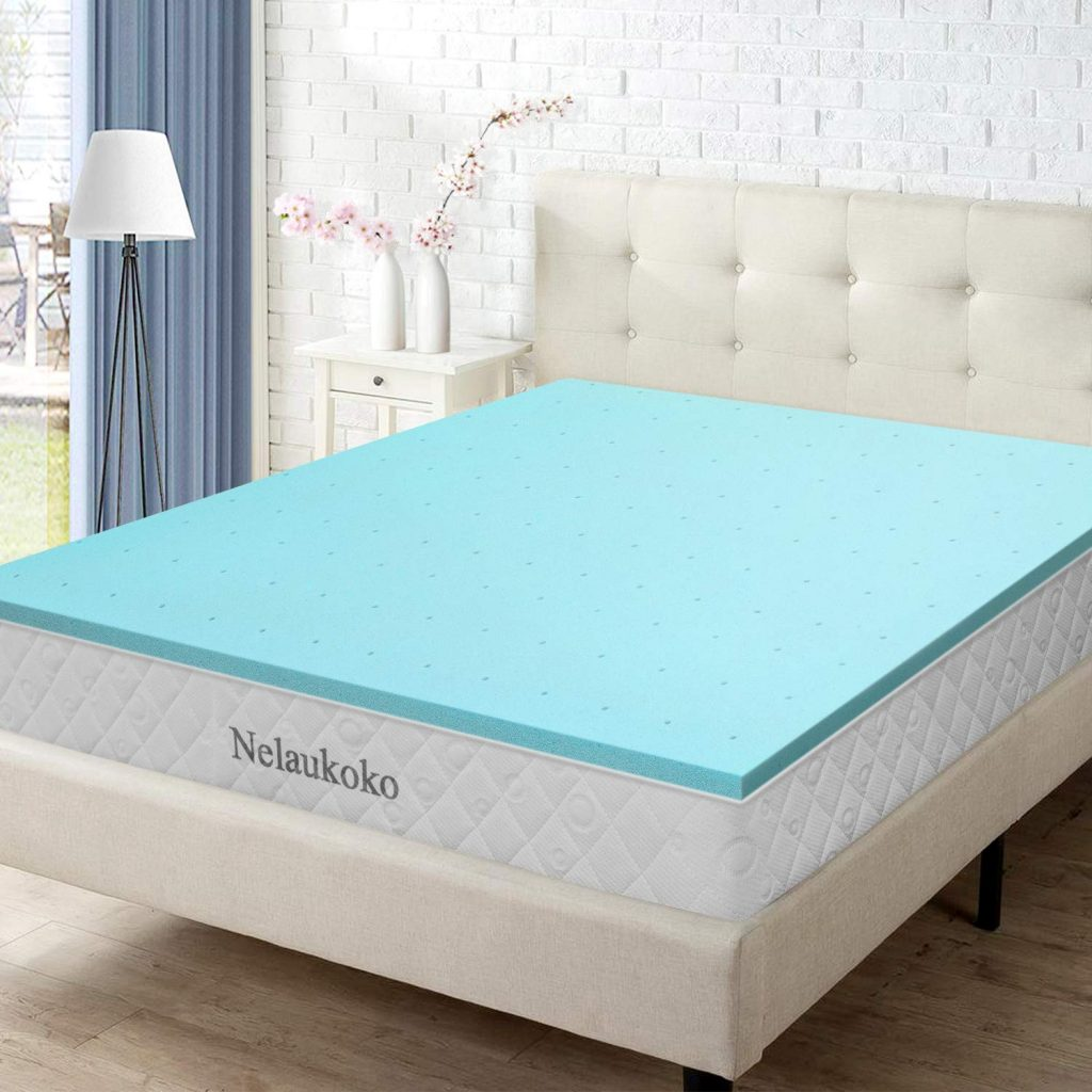 8. Nelaukoko Memory Foam Mattress Topper Twin XL