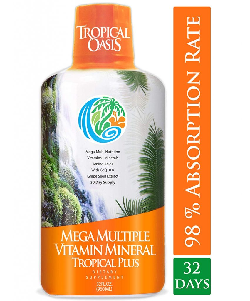 9. Tropical Oasis Mega Premium Natural Liquid Multivitamin