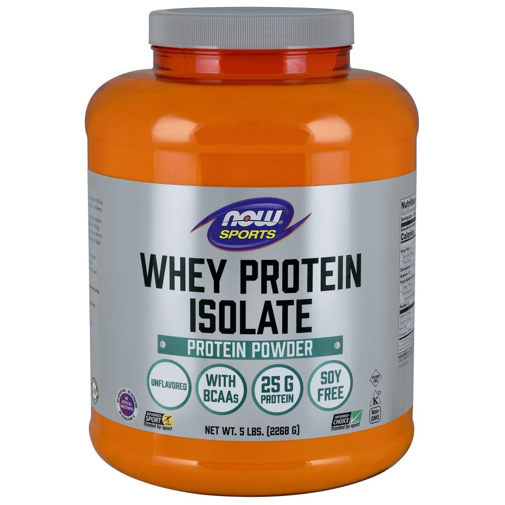 7. Now Sports Nutrition, Whey Protein Isolate: