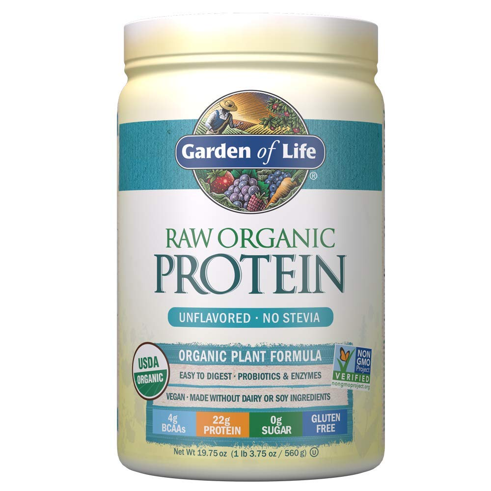 10. Garden of Life Raw Organic Protein Unflavored Powder:
