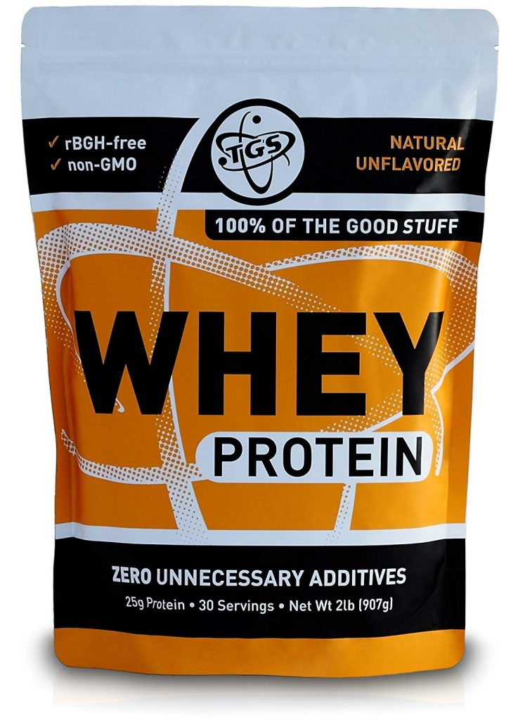 1. TGS All Natural 100% Whey Protein Powder: