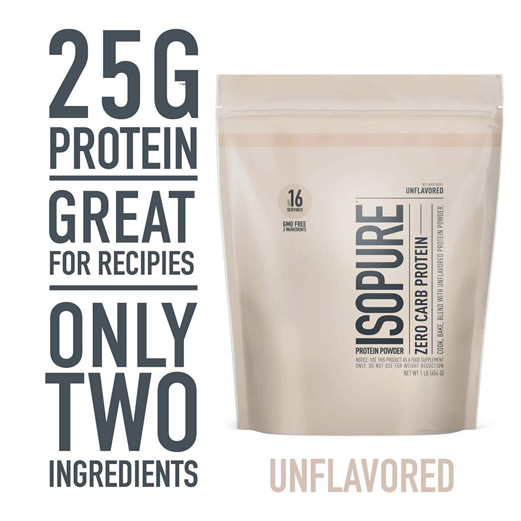 6. Isopure Zero Carb, Keto Friendly Protein Powder: