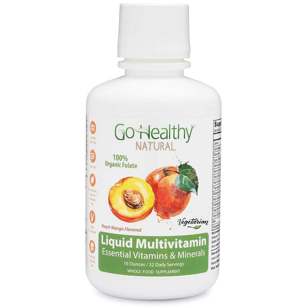 2. Go Healthy Natural Multivitamin Liquid with Organic Folate