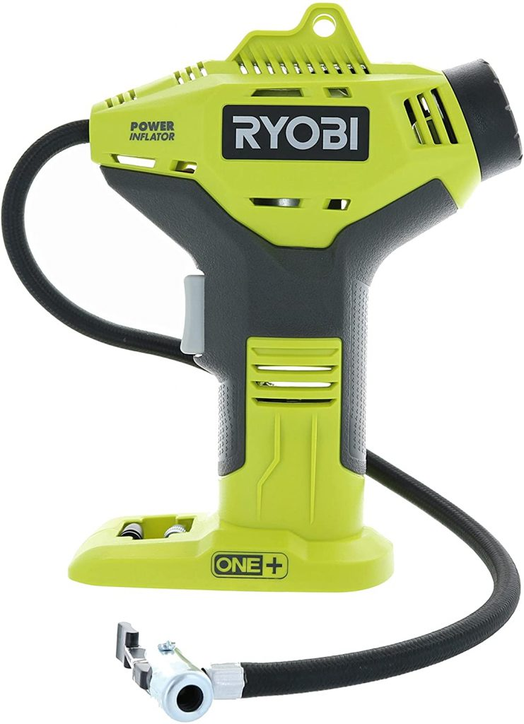 1. Portable Cordless Power Inflator for Tires by Ryobi