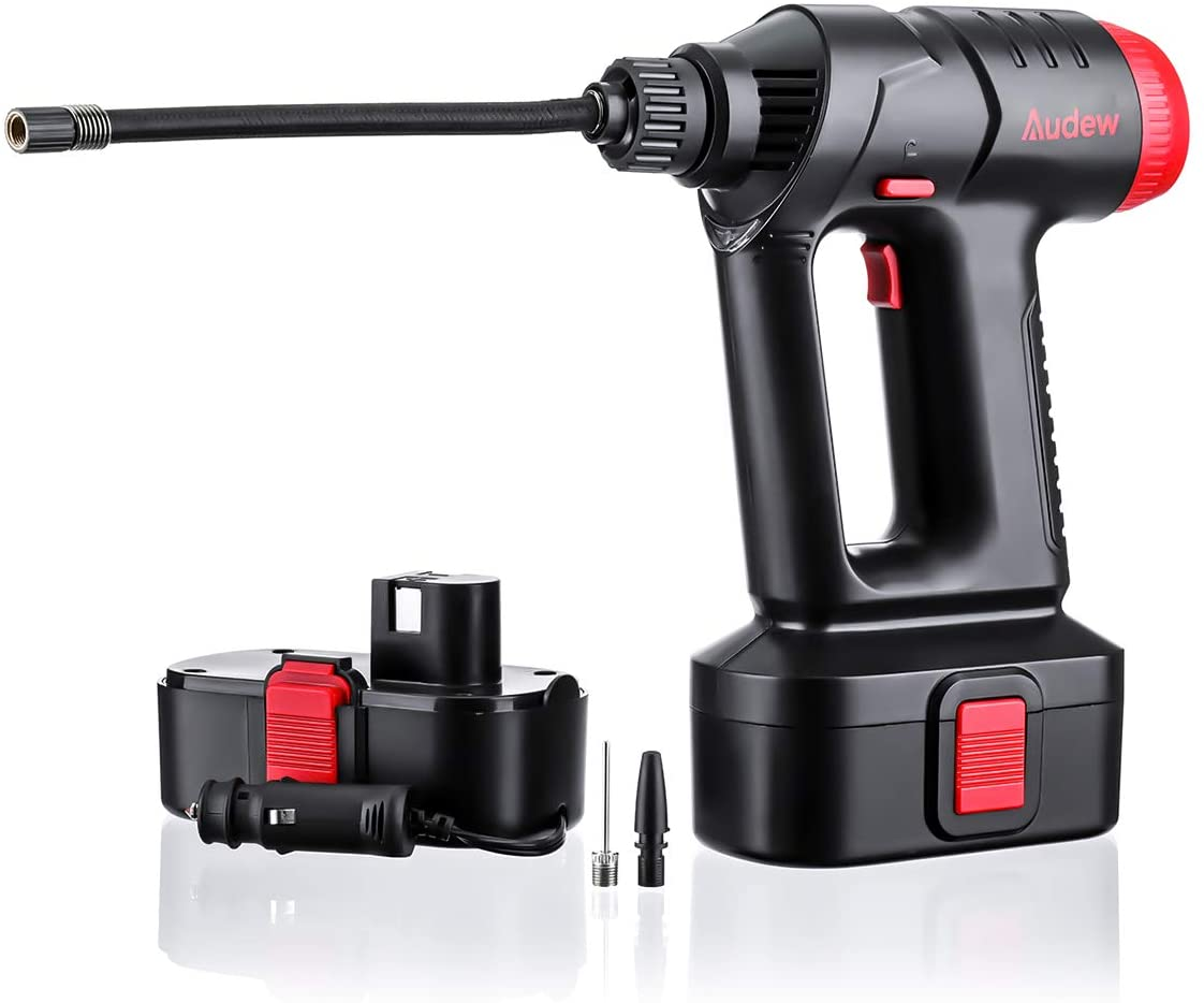 10. Cordless Air Compressor and Tire Inflator by Audew